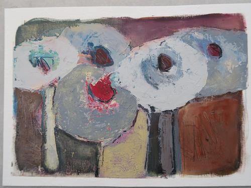 Angela Fusenig, One Fine Day, Stilleben, Pflanzen: Blumen, Gegenwartskunst