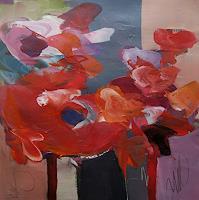 Angela-Fusenig-1-Pflanzen-Blumen-Diverse-Pflanzen-Moderne-expressiver-Realismus