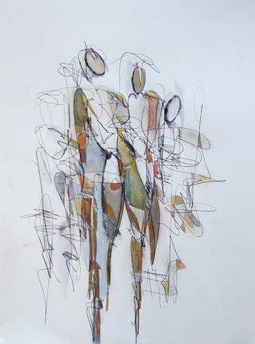 Angela Fusenig, Figürliche Komposition, Menschen: Gruppe, Menschen: Frau, Gegenwartskunst