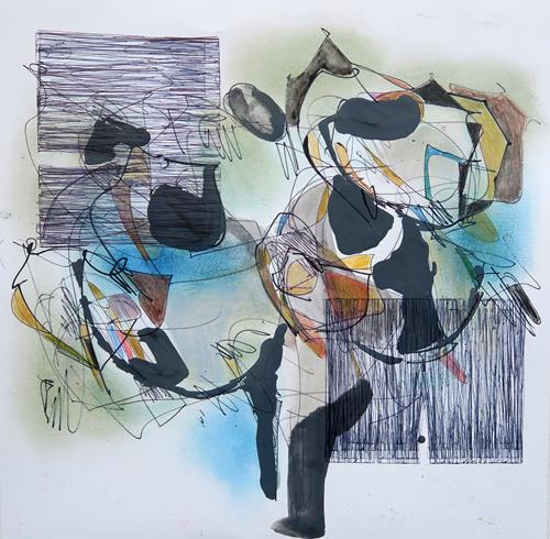 Angela Fusenig, O.T., Abstraktes, Poesie, Informel, Abstrakter Expressionismus