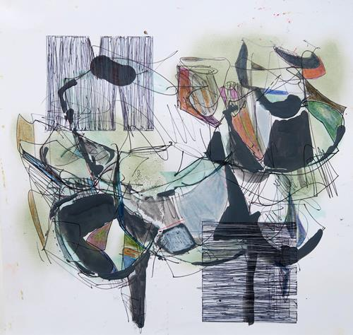 Angela Fusenig, O.T., Abstraktes, Pflanzen: Blumen, Informel