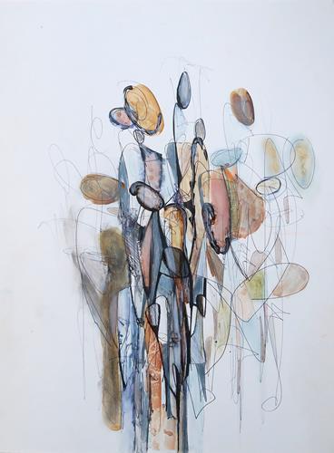Angela Fusenig, O.T., Menschen: Gruppe, Menschen: Frau, Gegenwartskunst