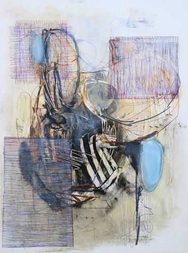 Angela Fusenig, O.T., Abstraktes, Diverses, Informel, Expressionismus