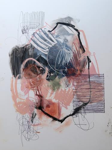 Angela Fusenig, O.T., Abstraktes, Diverses, Informel, Abstrakter Expressionismus