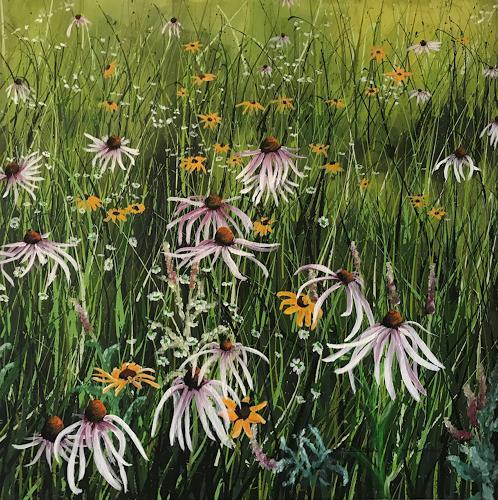 Rosa Gasche, Himmelsapotheke, Pflanzen, Landschaft: Sommer, expressiver Realismus, Expressionismus