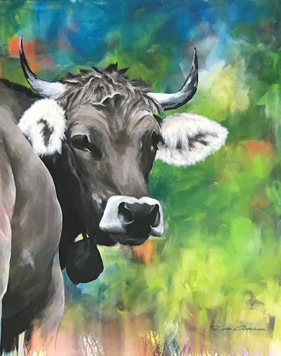 Rosa Gasche, Den Neugierigen gehört die Welt, Tiere, Natur: Erde, expressiver Realismus, Expressionismus