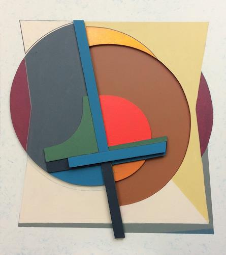 victor popov, Konstruktion Halbkreis, Abstraktes, Spiel, Konstruktivismus, Expressionismus