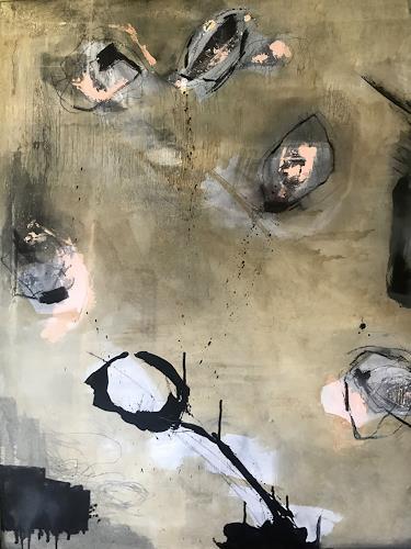 Christine Hartmann, Die Sonne duldet kein weisses, Abstraktes, Abstrakte Kunst, Expressionismus
