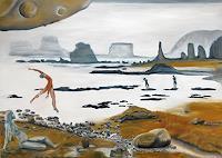 Claudia-Erbelding-Landschaft-Strand-Menschen-Paare-Gegenwartskunst-Postsurrealismus