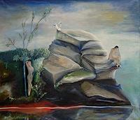 Claudia-Erbelding-Landschaft-Menschen-Paare-Gegenwartskunst-Postsurrealismus