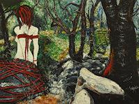 Claudia-Erbelding-Menschen-Frau-Natur-Wald-Gegenwartskunst-Postsurrealismus