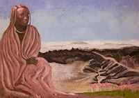 Claudia-Erbelding-Menschen-Frau-Landschaft-Berge-Gegenwartskunst-Postsurrealismus