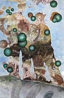 Claudia-Erbelding-Landschaft-See-Meer-Menschen-Gruppe-Gegenwartskunst-Postsurrealismus