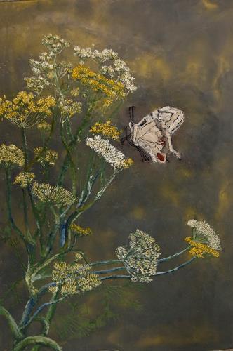 Claudia Erbelding, Fenchel, Pflanzen: Blumen, Tiere: Luft, Expressionismus