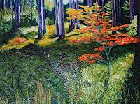 Claudia-Erbelding-Landschaft-Herbst-Menschen-Frau-Moderne-Impressionismus-Postimpressionismus