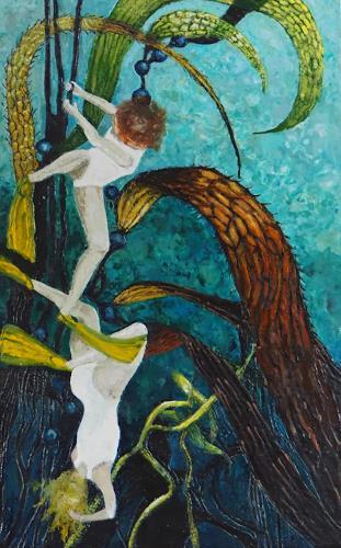 Claudia Erbelding, Kelp2, Landschaft: See/Meer, Menschen, Impressionismus