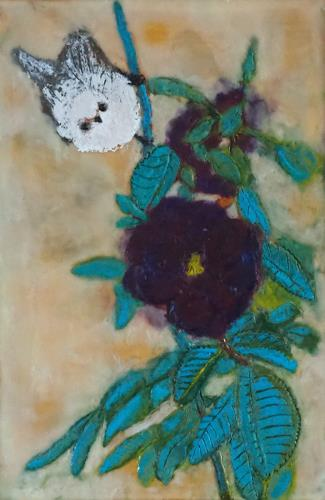 Claudia Erbelding, Rose, Pflanzen, Tiere, Impressionismus