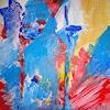 Gisela K. Wolf, blaue Blume