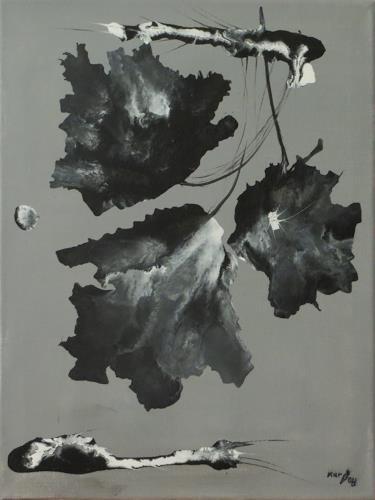 Karin Ott-Hofmann, Trauerblüten, Pflanzen, Pflanzen: Blumen, Gegenwartskunst, Expressionismus