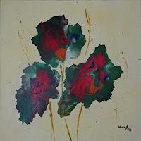 Karin-Ott-Hofmann-Pflanzen-Blumen-Fantasie-Gegenwartskunst-Gegenwartskunst