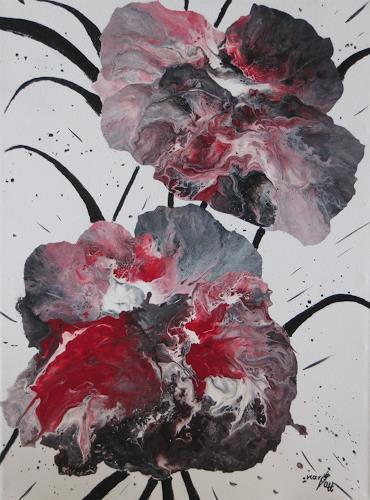 Karin Ott-Hofmann, Magmablüten, Abstraktes, Abstrakte Kunst, Abstrakter Expressionismus