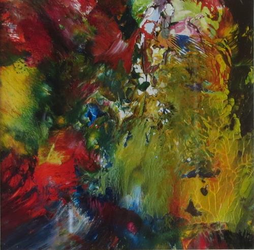 Karin Ott-Hofmann, Farbenspiel 1, Abstraktes, Abstrakte Kunst