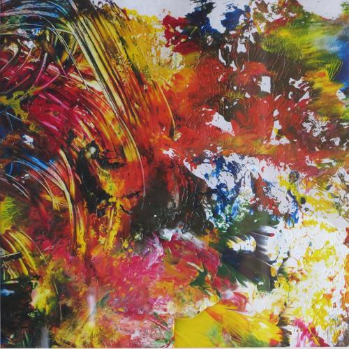 Karin Ott-Hofmann, Farbenspiel 5, Abstraktes, Abstrakte Kunst, Abstrakter Expressionismus