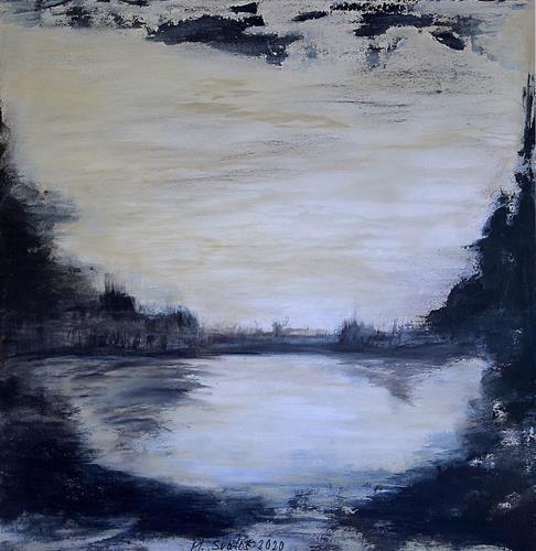 Maria Svatos, Abstrakte Landschaft, Landschaft, Abstraktes, Gegenwartskunst