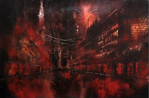 Nicole Glück, Die Stille der Nacht, Abstraktes, Abstraktes, Abstrakte Kunst, Abstrakter Expressionismus