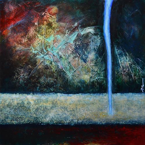 Jean-Luc LACROIX, Warlock - 50x50cm, Abstraktes, Diverse Landschaften, Surrealismus, Abstrakter Expressionismus
