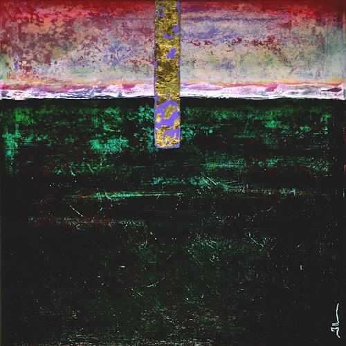 Jean-Luc LACROIX, At Dawn - 50x50cm, Abstraktes, Natur: Erde, Abstrakte Kunst