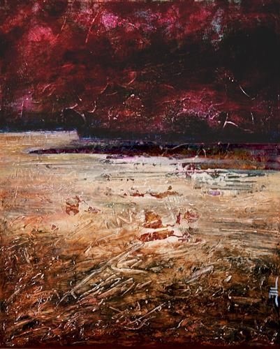 Jean-Luc LACROIX, Etrille - 41x33cm, Natur: Erde, Abstraktes, Abstrakte Kunst, Abstrakter Expressionismus