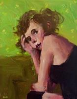 Andreas-Zeug-Menschen-Frau-Menschen-Portraet-Moderne-Andere-Neue-Figurative-Malerei