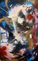Andreas-Zeug-Abstraktes-Abstraktes-Moderne-Abstrakte-Kunst-Action-Painting