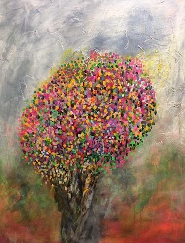 Sibylle Frucht, Colours, Pflanzen: Bäume, Landschaft: Frühling, Abstrakter Expressionismus