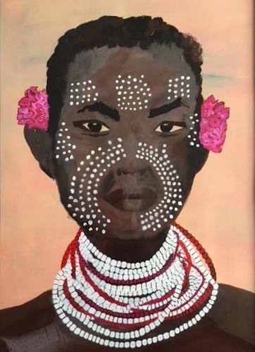 Sibylle Frucht, O/T, Menschen: Gesichter, Menschen: Porträt, Gegenwartskunst