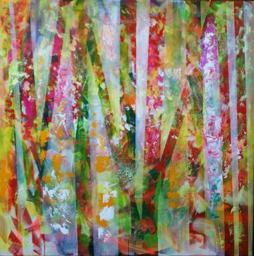 Sibylle Frucht, Forest, Abstraktes, Natur: Wald, Abstrakter Expressionismus
