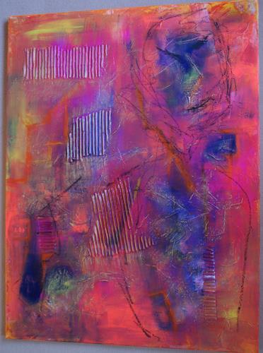 Sibylle Frucht, O/T, Abstraktes, Fantasie, Abstrakter Expressionismus
