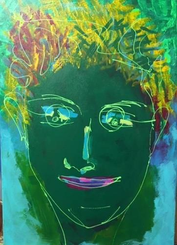 Sibylle Frucht, O/T, Menschen: Gesichter, Abstraktes, Gegenwartskunst