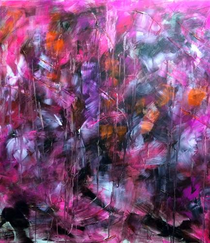 Sibylle Frucht, O/T, Abstraktes, Abstraktes, Action Painting