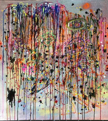 Sibylle Frucht, Virus, Abstraktes, Diverse Gefühle, Action Painting, Abstrakter Expressionismus