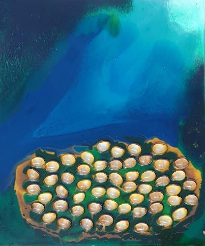 WWSt, Blautöne 11, Abstraktes, Abstraktes, Abstrakte Kunst, Abstrakter Expressionismus