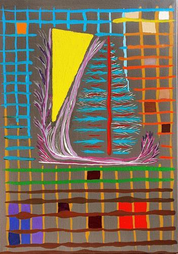 WWSt, Netzkomposition 2, Abstraktes, Abstrakte Kunst, Abstrakter Expressionismus