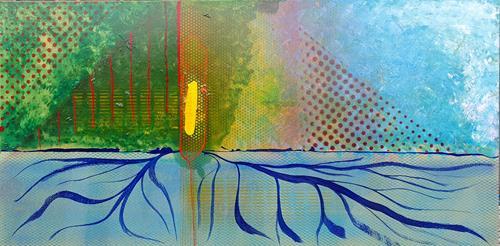 WWSt, Farbennmelodie am Raster 4, Abstraktes, Abstrakte Kunst