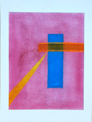 WWSt, Farbfeld mit Formen, Abstraktes, Colour Field Painting