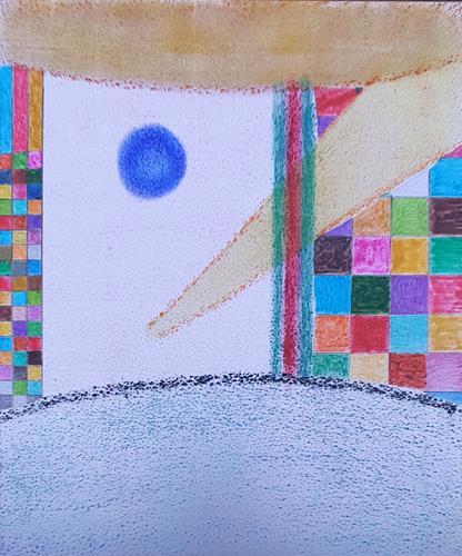 WWSt, Komposition mit Farbfeldern, Abstraktes, Colour Field Painting