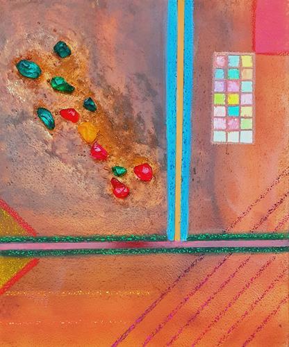 WWSt, Komposition mit Glassteinen, Abstraktes, Colour Field Painting
