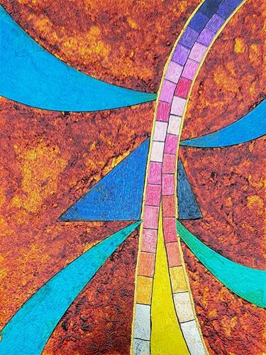 WWSt, Komposition mit Glasscherben 2, Abstraktes, Colour Field Painting