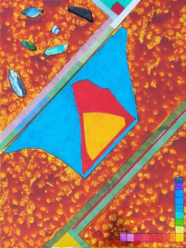 WWSt, Komposition mit Glasscherben 3, Abstraktes, Colour Field Painting, Abstrakter Expressionismus