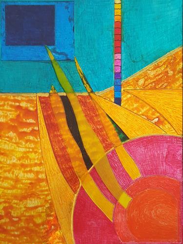 WWSt, Komposition mit Glasscherben 4, Abstraktes, Colour Field Painting